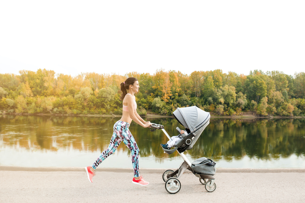 when can baby go in jogging stroller